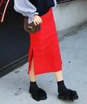 DHOLIC | サイドスリットタイトミモレスカート(スカート)