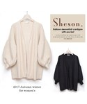 Sheson | Sheson(シーズン) バルーンスリーブニットカーディガン(カーディガン)