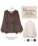 Sheson | Sheson(シーズン)カラーシャギーニット バルーンスリーブ(ニット・セーター)