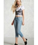 Forever 21「FOREVER 21+ Mid-Rise Cropped Jeans(Denim pants)」