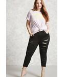 Forever 21「FOREVER 21+ Plus Size Mid-Rise Skinny Jeans(Denim pants)」