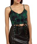 Missguided「Women's Missguided Plaid Bustier Top(T Shirts)」