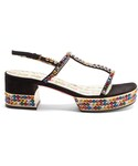 Gucci「GUCCI Mira crystal-embellished suede sandals(Other Shoes)」