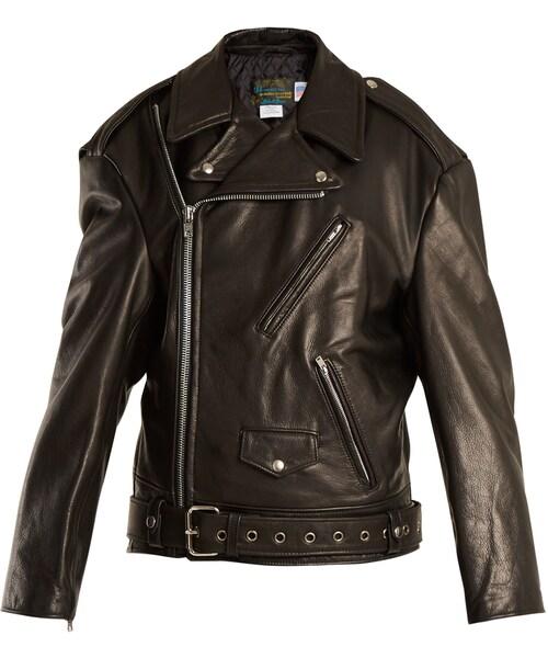 c35a440a4 Vetements,VETEMENTS X Schott Perfecto oversized leather jacket - WEAR