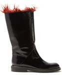 Marni「MARNI Faux-fur trimmed leather boots(Boots)」