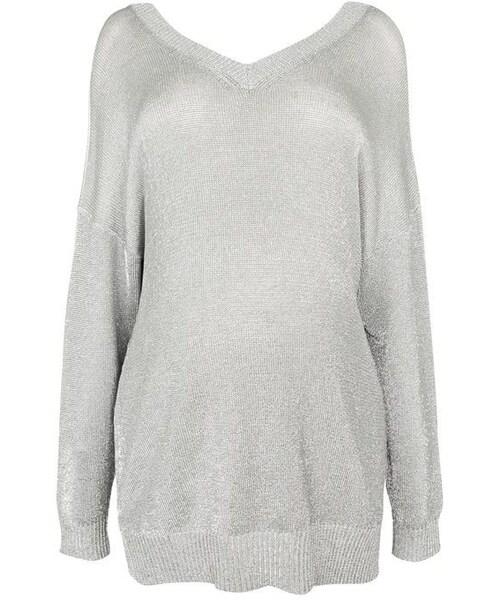 bbb0ea8f211dd Topshop(トップショップ)の「Topshop Maternity metal yarn jumper ...