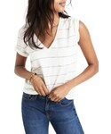 Madewell「Women's Madewell Whisper Cotton Stripe V-Neck Tee(T Shirts)」