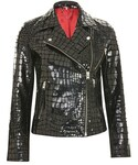 Topshop「Topshop Crocodile effect leather biker(Riders jacket)」