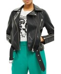 Topshop「Women's Topshop Willow Faux Leather Biker Jacket(Riders jacket)」