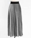 DHOLIC | ウエストストレッチベロアプリーツスカート(スカート)