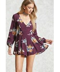 Forever 21「FOREVER 21 Pleated Floral Romper(One piece dress)」