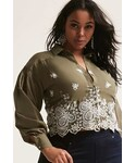 Forever 21「FOREVER 21 Plus Size Embroidered Shirt(Shirts)」