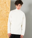 LIDnM | ミラノリブオフショルダータートル(針織衫)