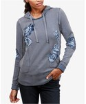 Lucky Brand「Lucky Brand Cotton Floral-Embroidered Hoodie(Sweatshirt)」