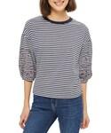 Topshop「Women's Topshop Embroidered Stripe Ballon Sleeve Tee(T Shirts)」
