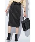 CHEER CLOSET | 【プチプラのあや】リボン付きハイウエストコーデュロイタイトスカート(スカート)