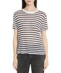 Alexander Wang(アレキサンダーワン)の「Women's T By Alexander Wang Back Tie Stripe Slub Jersey Tee(Tシャツ・カットソー)」