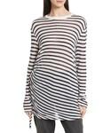 Alexander Wang(アレキサンダーワン)の「Women's T By Alexander Wang Side Tie Stripe Slub Jersey Tee(Tシャツ・カットソー)」