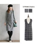 CITRINE Chakra(シトリンチャクラ)の「チェックジャンパースカート(ワンピース)」