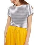 Topshop「Women's Topshop Roll Cuff Stripe Tee(T Shirts)」