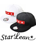 StarLean | スターリアン【公式】OTTO製 オットー  ベースボールキャップ メンズ レディース 白黒 BBキャップ 秋 冬 スリースター刺繍ベースボールキャップ(RED)(キャップ)