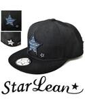 StarLean | スターリアン【公式】OTTO製 オットー  ベースボールキャップ メンズ レディース 白黒 BBキャップ 秋 冬 star in star刺繍ベースボールキャップ(キャップ)