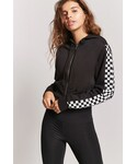 Forever 21「FOREVER 21 Active Checkered Drawstring Hoodie(T Shirts)」