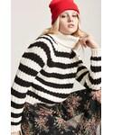 Forever 21「FOREVER 21 Stripe Turtleneck Sweater(Knitwear)」