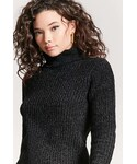 Forever 21「FOREVER 21 Marled Chenille Knit Turtleneck(Knitwear)」