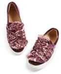 Topshop「Women's Topshop Twisted Sequin Velvet Sneakers(Sneakers)」