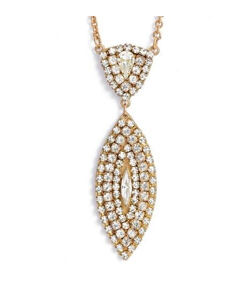 Sandy hyunwomens sandy hyun crystal womens sandy hyun crystal pendant drop necklace mozeypictures Gallery