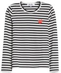 Comme des Garcons「Women's Comme Des Garcons Play Stripe Cotton Tee(T Shirts)」