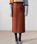 DHOLIC(ディーホリック)の「リングベルトSETロングスカート(スカート)」