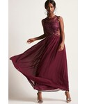 Forever 21「FOREVER 21 Soieblu Chiffon and Lace Maxi Dress(One piece dress)」