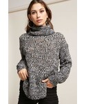 Forever 21「FOREVER 21 Marled Open Knit Turtleneck Sweater(Knitwear)」