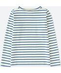 ユニクロ | ボーダーボートネックT(長袖)(Tシャツ・カットソー)