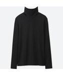 ユニクロ   スーピマコットンタートルネックT(長袖)(Tシャツ・カットソー)