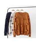 ZARA「ポンポン  ニット  ニット帽 セーター ビッグシルエット(Knitwear)」