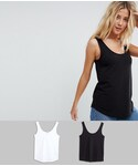 Asos「ASOS Ultimate Tank 2 Pack(Tank tops)」