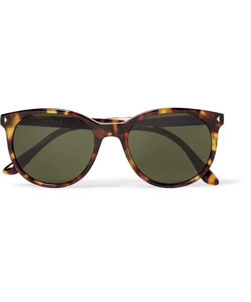 1dc4f697c63b Prada,Prada Round-Frame Tortoiseshell Acetate Sunglasses - WEAR