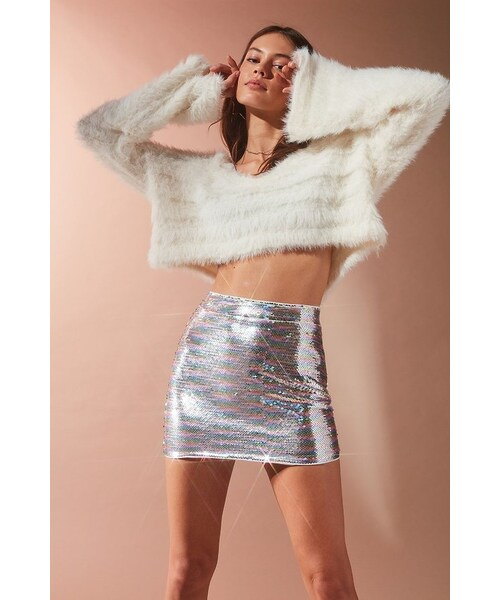 e19a1e693e Urban Outfitters,Urban Outfitters UO Rainbow Sequin Mini Skirt - WEAR