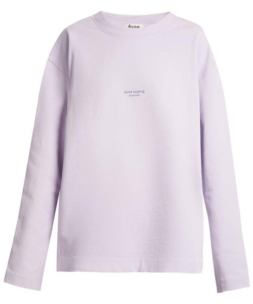 Cotton Acne Sweatshirt Logo Studios Neck SWxCX7