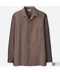 ユニクロ「オープンカラーシャツ(長袖)+E(Shirts)」