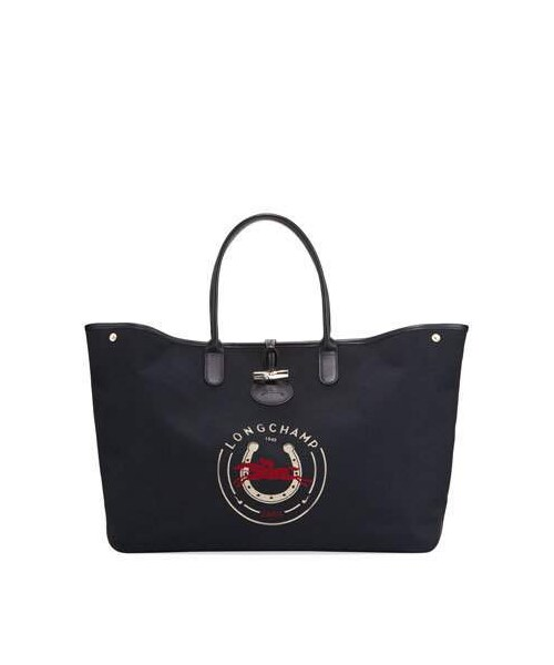 8518ef32edb Longchamp(ロンシャン)の「Longchamp Roseau 1948 XL Logo Tote Bag ...