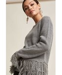FOREVER 21「FOREVER 21 Ribbed Knit Fringe Sweater(Knitwear)」