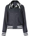 Harvey Faircloth「Harvey Faircloth - ファーカラー デニムジャケット - women - コットン/スパンデックス - S(Denim jacket)」