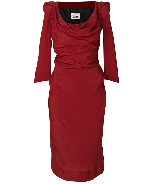 Vivienne Westwood(ヴィヴィアンウエストウッド)の「Vivienne Westwood , ルーシュフロント ドレス , women  , ビスコース/アセテート , 40(ドレス)」 , WEAR