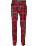 Burberry「Burberry - チェック テーラードパンツ - women - ウール/キュプラ/スパンデックス - 10(Pants)」