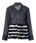 Harvey Faircloth「Harvey Faircloth - ファーパネル デニムジャケット - women - スパンデックス/コットン - M(Denim jacket)」
