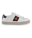 Gucci | Gucci - エース スニーカー - women - レザー/ナイロン/クリスタル/rubber - 39.5(Sneakers)